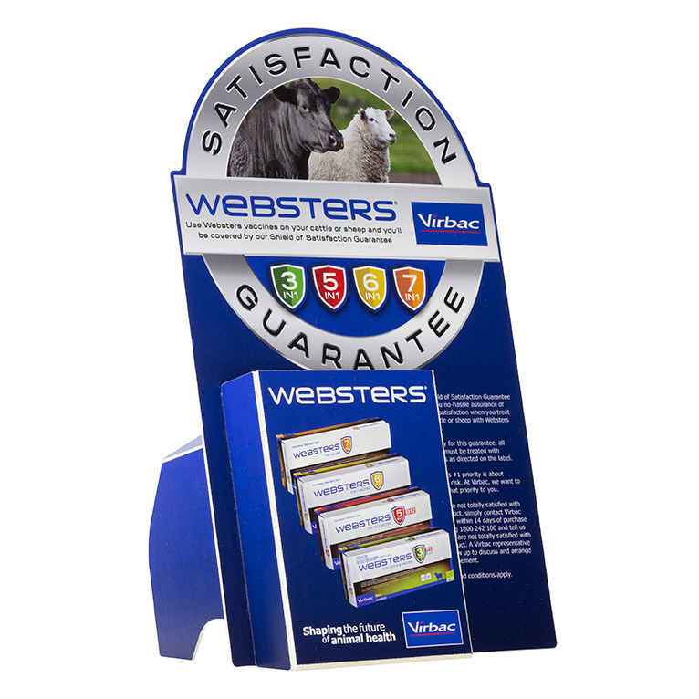 Virbac Websters POS Point of Sale Display Stand